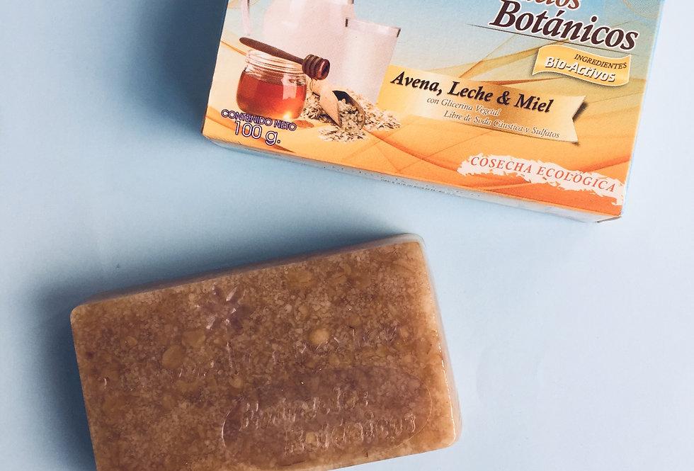 Jabón Facial Avena, Leche y Miel