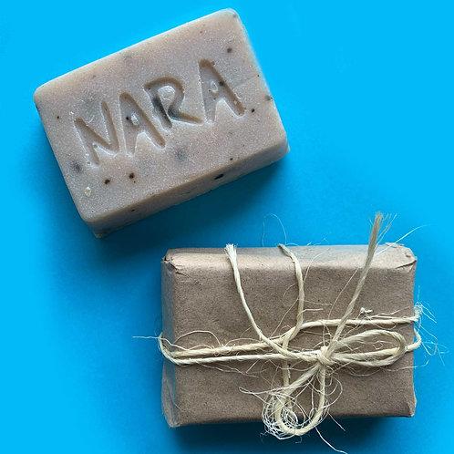 Jabón Corporal Nara Coco, Arcilla Verde, Eucalipto y Menta