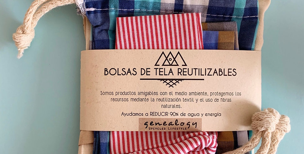Kit x 4 Bolsas Reutilizables
