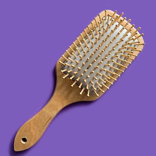 Cepillo de Madera para el Cabello Cuadrado