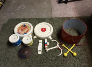 Vintage Toy Drum Set