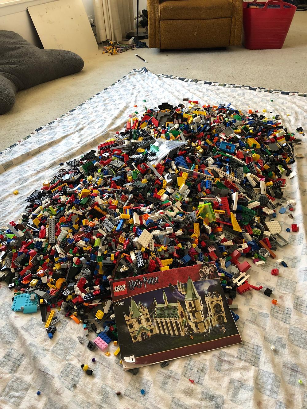 Big pile of LEGO