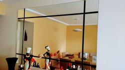 Espelho motagem com vidro preto