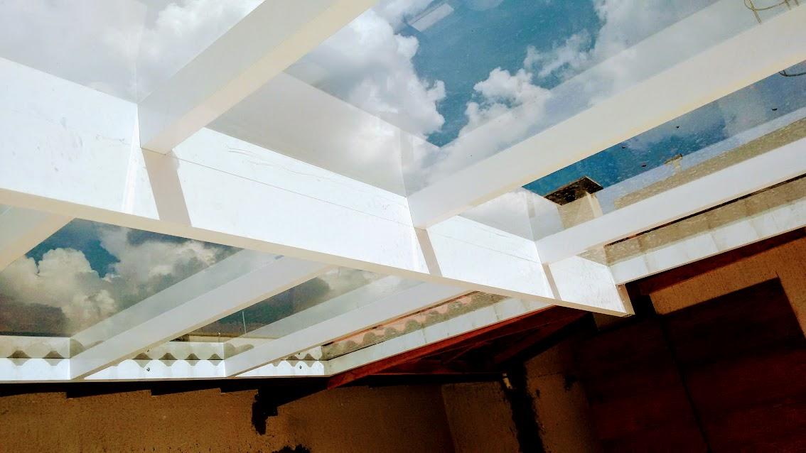 Cobertura com vidro Habitat