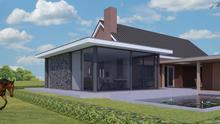 Modern ontwerp uitbreiding vrijstaande woning