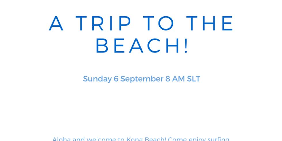 Surf's up at Kona Beach!