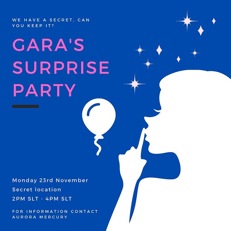 Gara's surprise party