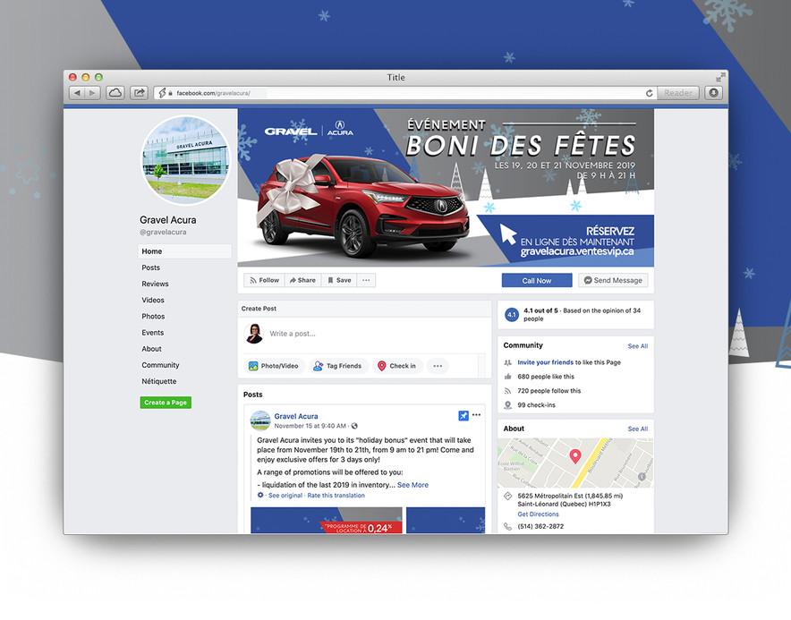 Gravel Acura Facebook Page