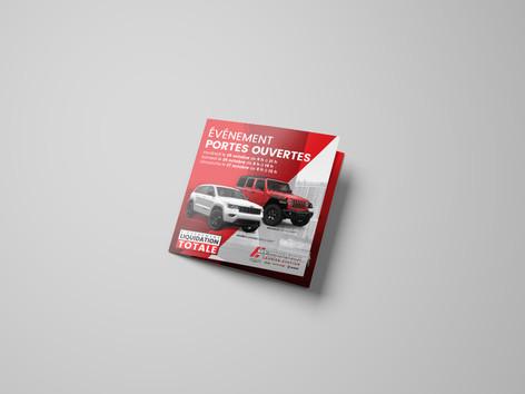 Square Trifold Brochure Mockup - Free Ve