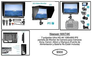 renta equipo fotografico puebla monitor neewer