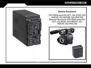 renta equipo fotografico puebla bateria panasonic