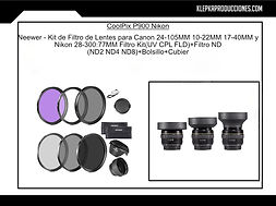 renta de equipo fotografico puebla filtros
