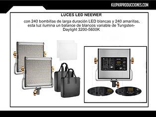 renta equipo fotografico luces led