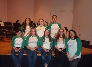Griffith and Schoenbeck at Otterbein Flute Choir Day