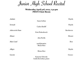 Junior High Studio Recital