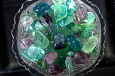 fluorite china crystals polished tumbled stones minerals gems