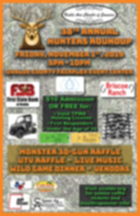 Hunters Roundup Event Poster 2018 38th.j