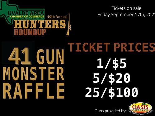 x5 Monster Raffle Tickets