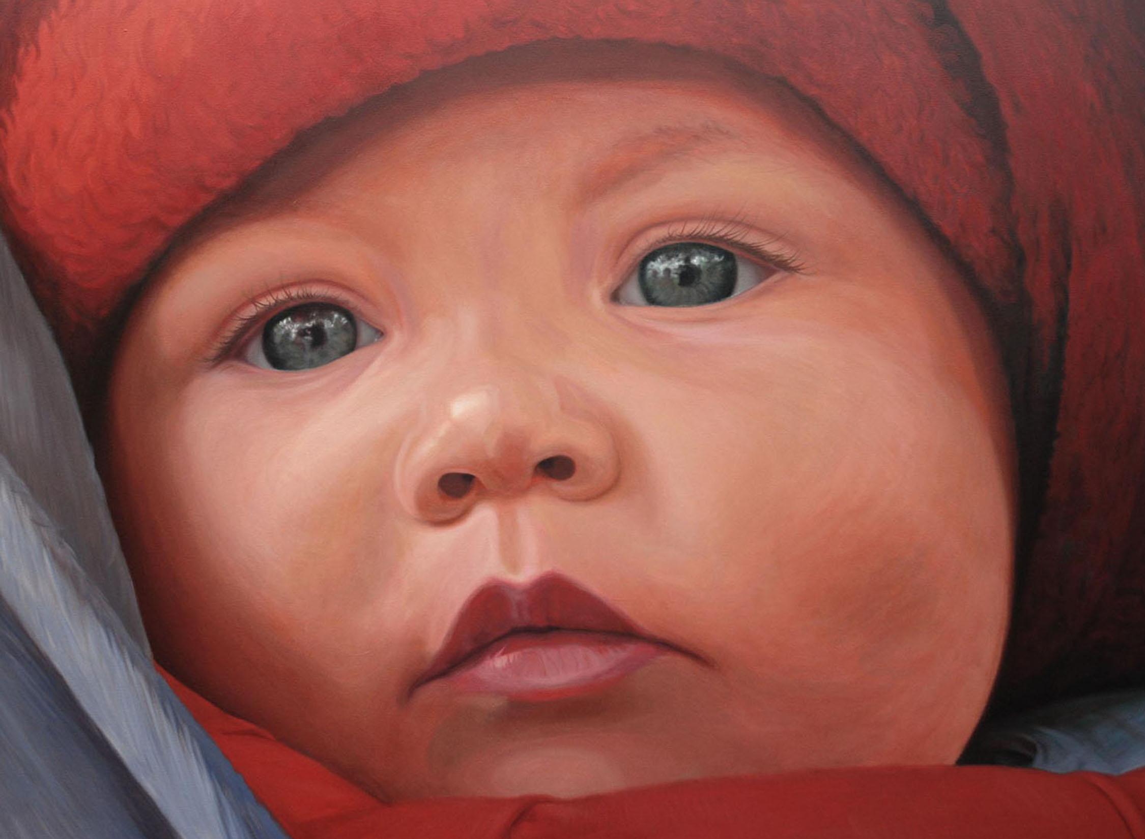 Leila portrait - 9 months
