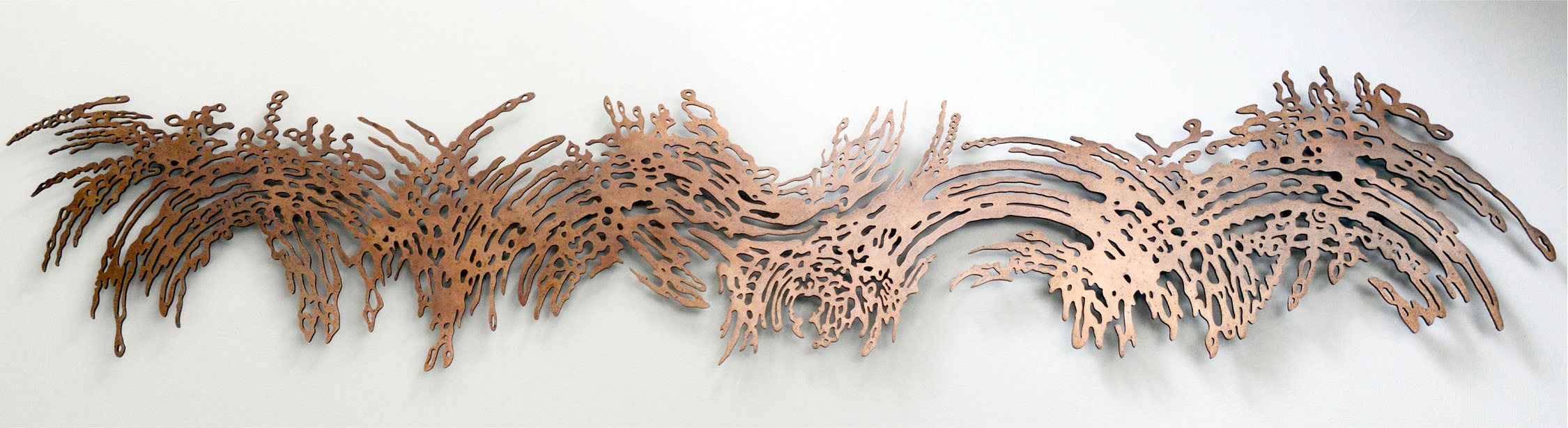 Bronze wall sculpture