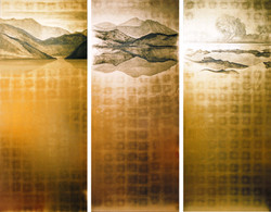 Painted gold leaf panels