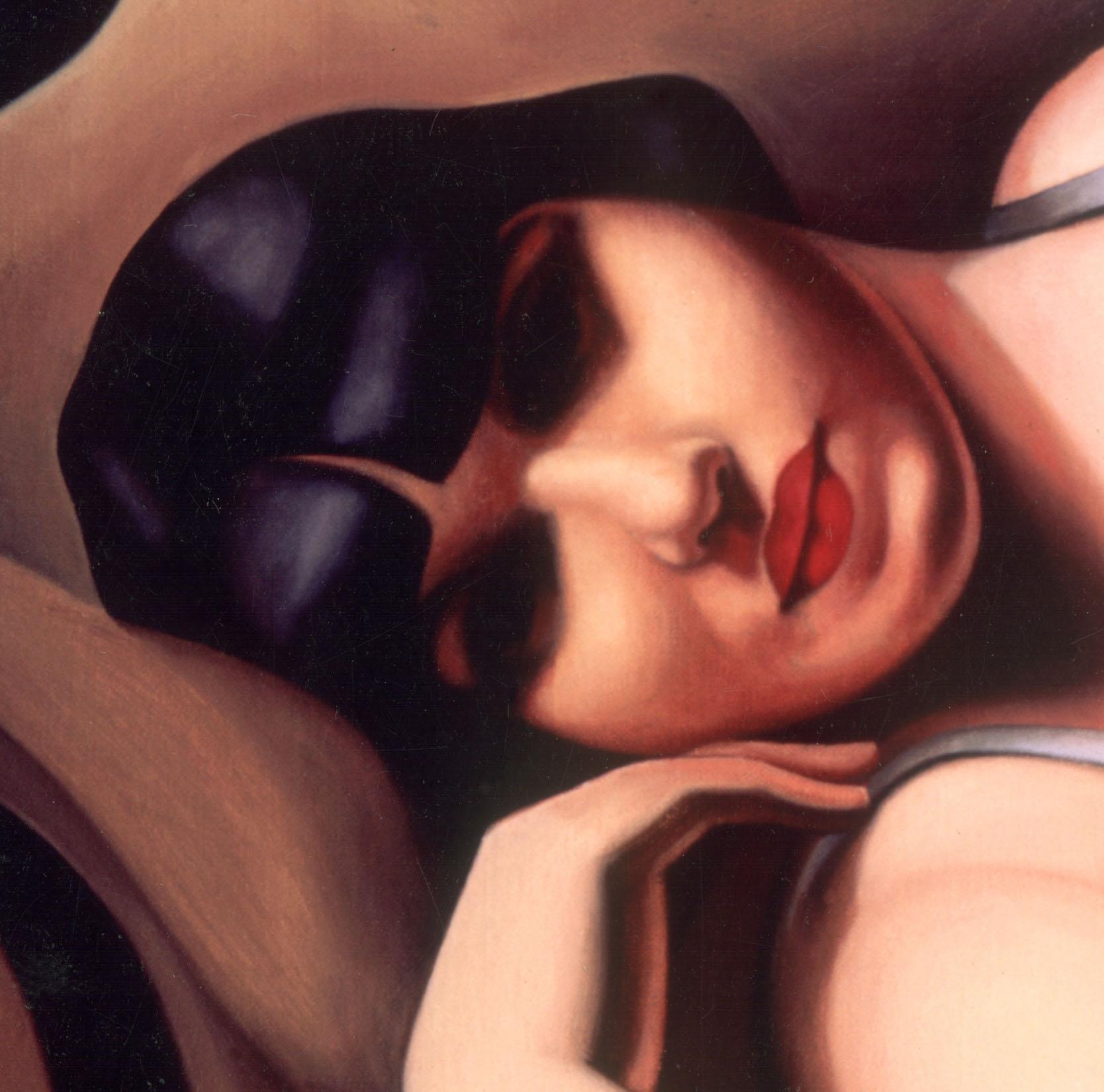Tamara de Lempicka painting detail