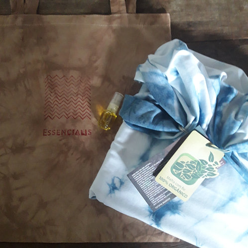 Surpresa perfeita > echarpe + ecobag + perfume essencialis