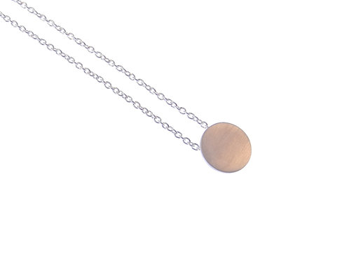 disc necklace BRUSHED