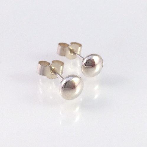 petite silver button studs