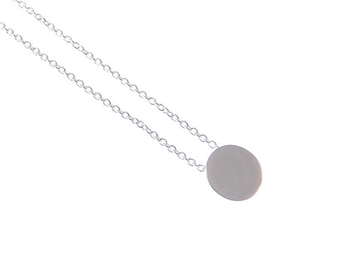disc necklace POLISHED