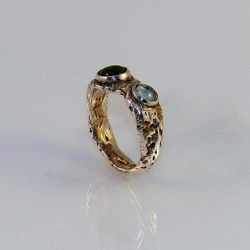 Aqua & Peridot Ring