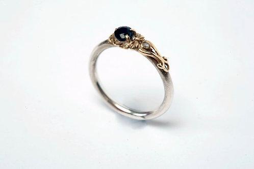 Sapphire & Diamond filigree