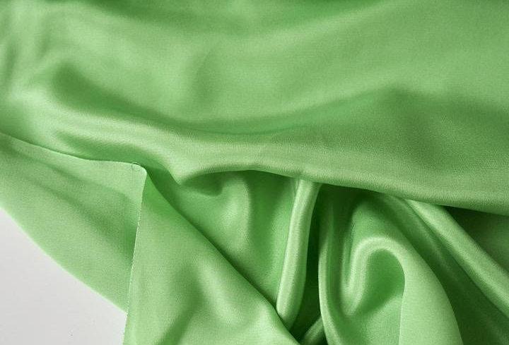 Leaf Green 100% Silk Crepe-de-Chine Slip