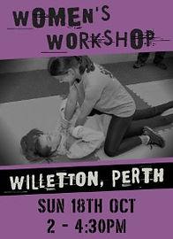 Women's Self Defence Workshop - WILLETTON - 18 OCT 20