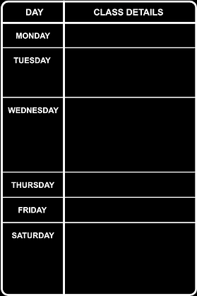 Class Timetable Background - by Day 400x