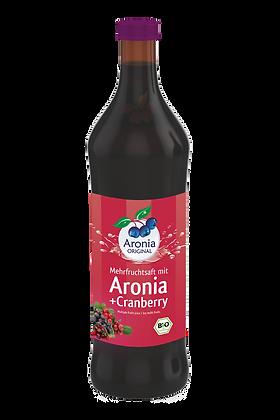 """משקה ארוניה + 31% חמוציות טבעי\אורגני 700 מ""""ל"""