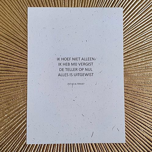 postkaart UITGEWIST