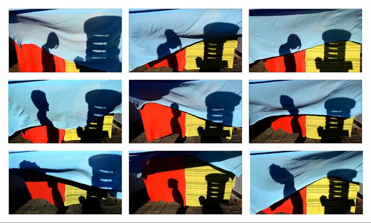 Gevis Lekiqi, Personal (red, green & blue) III, 2016, video on screen, colour, no sound, courtesy l'artista, credit Federico Rinaldi