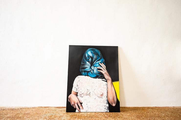 Federica Poletti, Ghost in a sunny day, 2019, olio su tela, 80x60 cm, courtesy l'artista, credit Federico Rinaldi