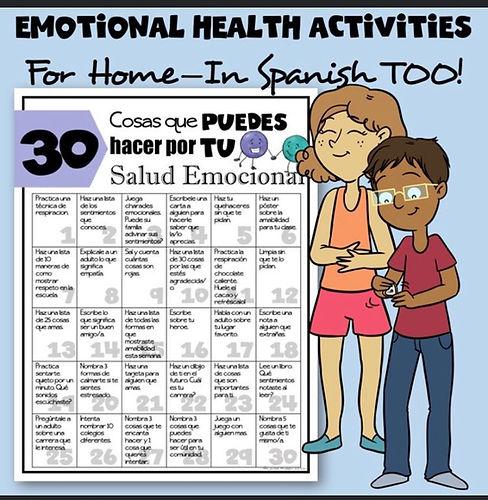 Emotional Health Activities. Spanish..jp