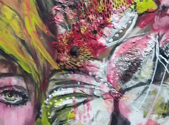 mix techniques acrylic painting on canvas by Jenie Gospodinova