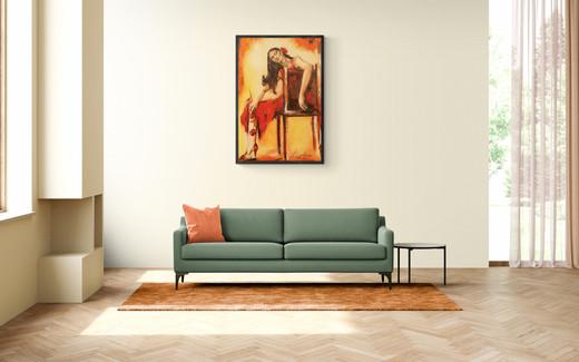 oil-portrait-woman-red