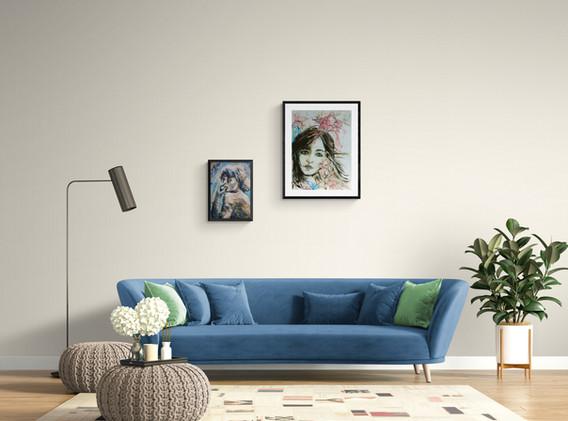 acylic-painting-portrait-woman-canvas-jenie Gospodinova