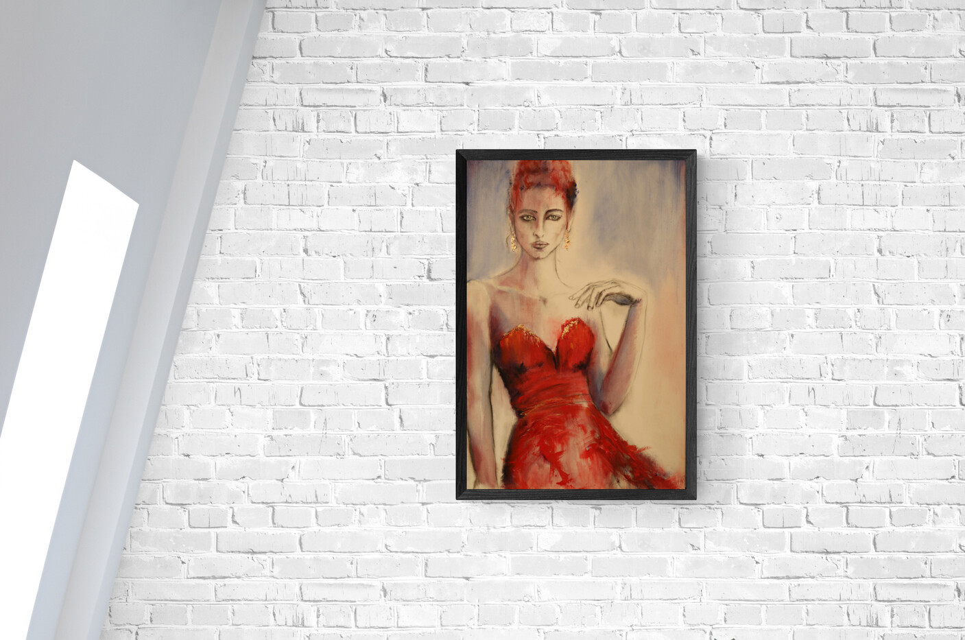 oil-portrait-woman-canvas-red