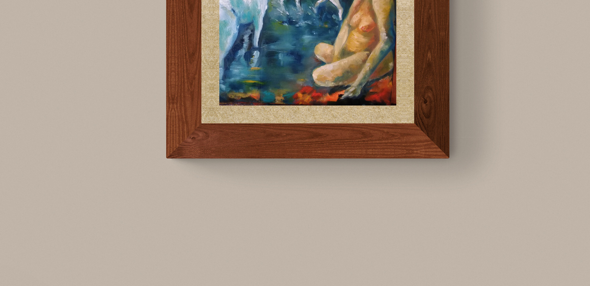 Oil-painting-horses-woman