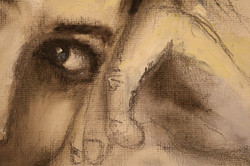 Painting of woman detail