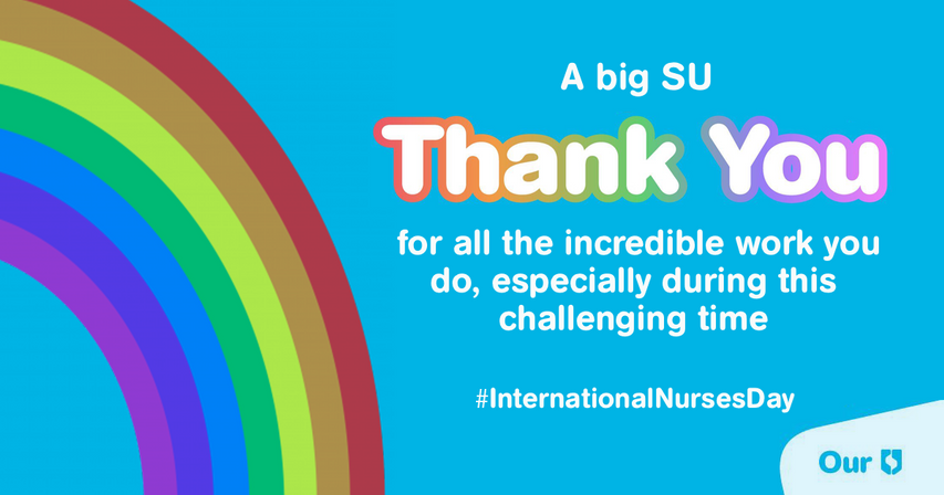 International Nurses Day  Created to help show the support of the SU to all the nurses who worked tirelessly during the COVID-19 pandemic on International Nurses Day 2020.