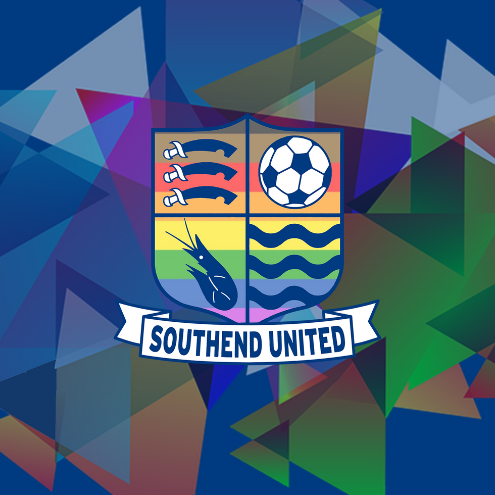 Logo design featuring the clubs crest and pride flag
