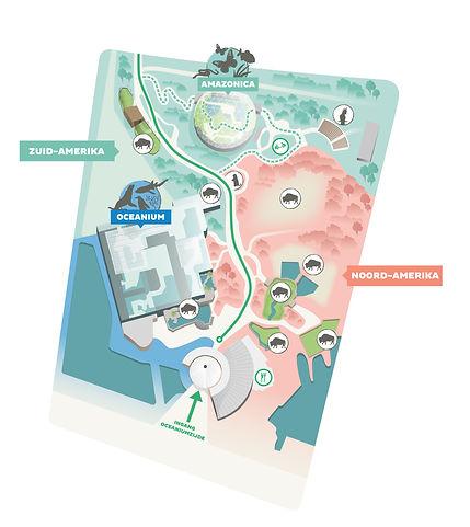 Blijdorp Dierenpark plattegrond