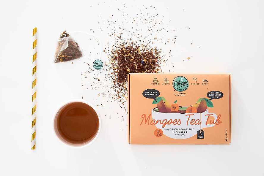 Mangoes Tea Tub Okae for Kids thee biologisch cafeinevrij suikervrij